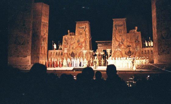 Caracalla, uitvoering Aida