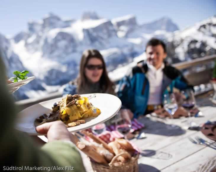 Gastronomie tijdens het skien in Alta Badia