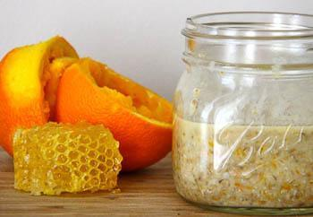 Sinaasappel en honing masker