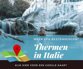 Ontdek op deze kaart alle thermale bestemmingen in Italie