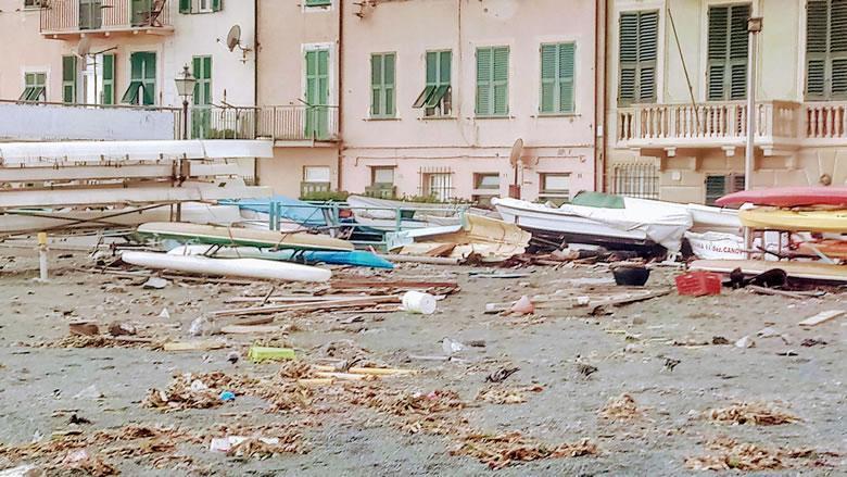 Noodweer in Italie, een blik op de toestand in Ligurië
