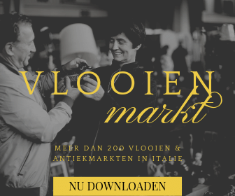 Download de exclusieve agenda met vlooienmarkten in Italie