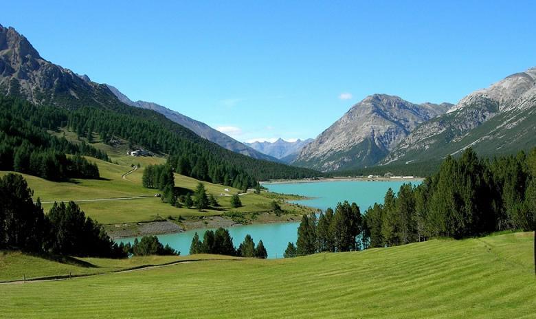 Het Stelvio Nationaal Park in Noord Italie