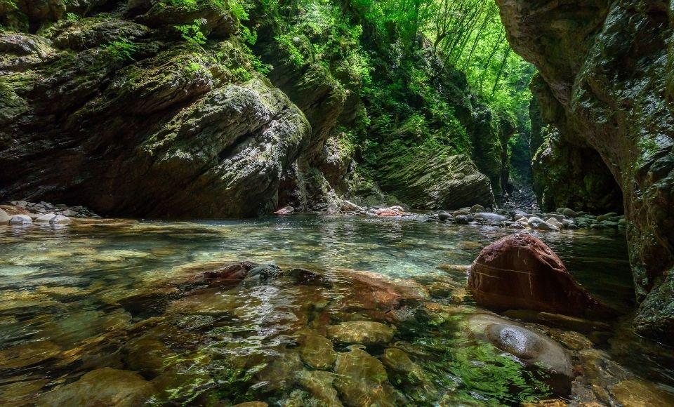 Piscina naturale a Pontremoli