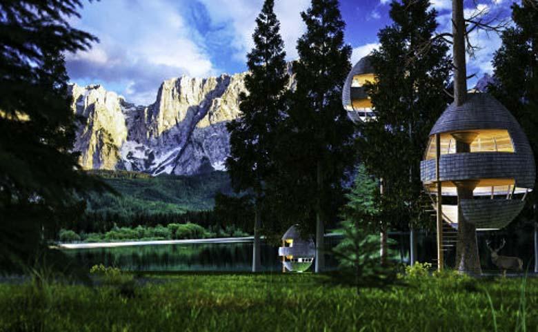 Mijn ei: boomhutten in het Valbruna