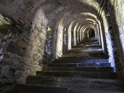 Het Fort van Fenestrelle, de grote muur van de Alpen