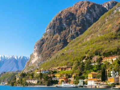 Fietsen tussen het Comomeer en het meer van Lugano