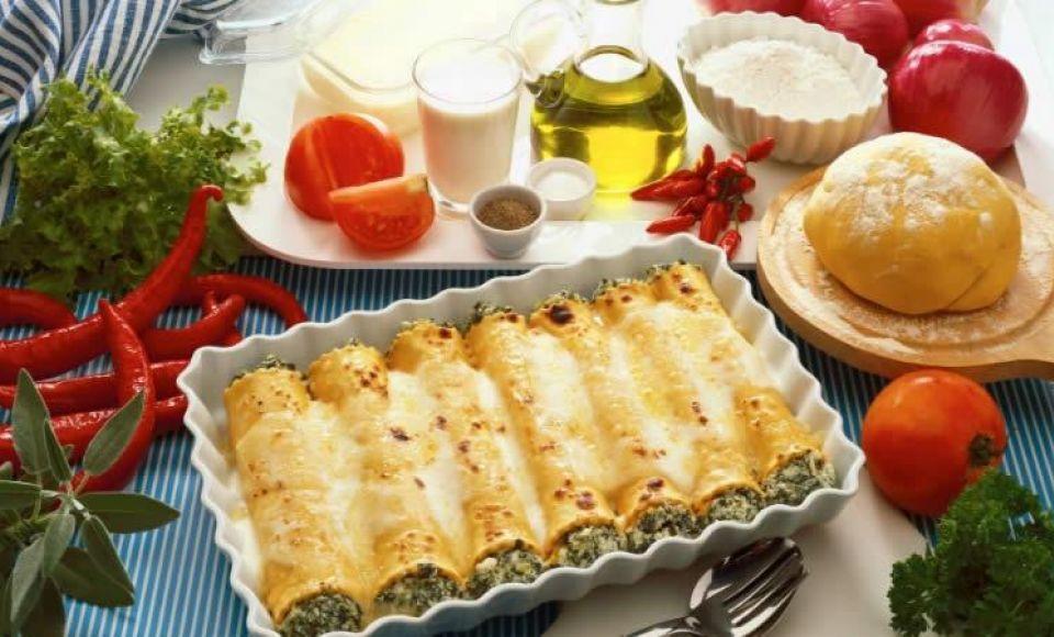 Cannelloni met courgette en Italiaanse kruiden