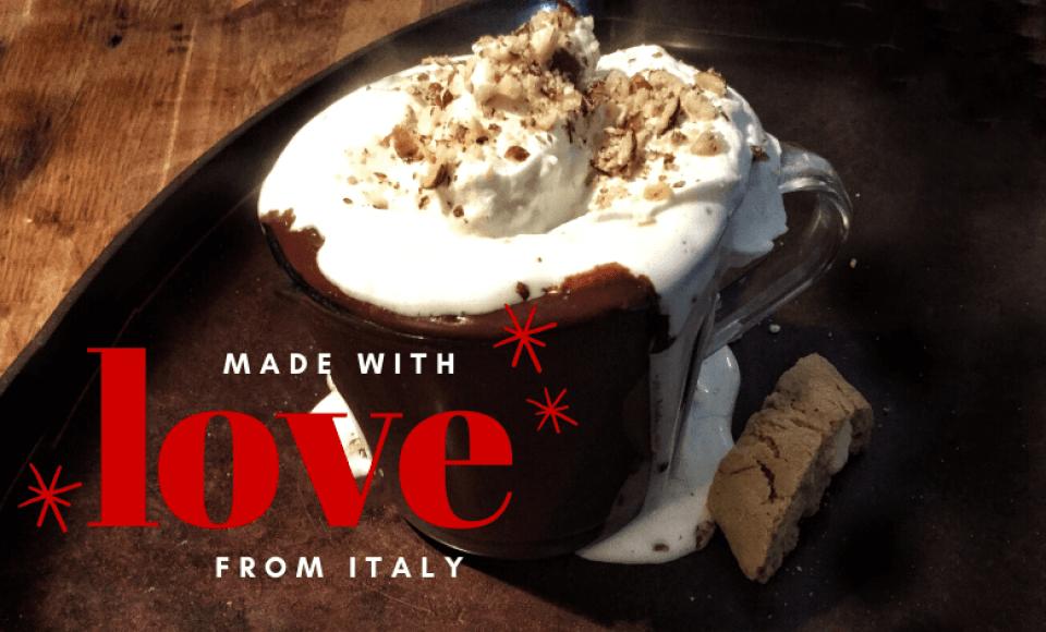 Romige Italiaanse warme chocolademelk uit Turijn