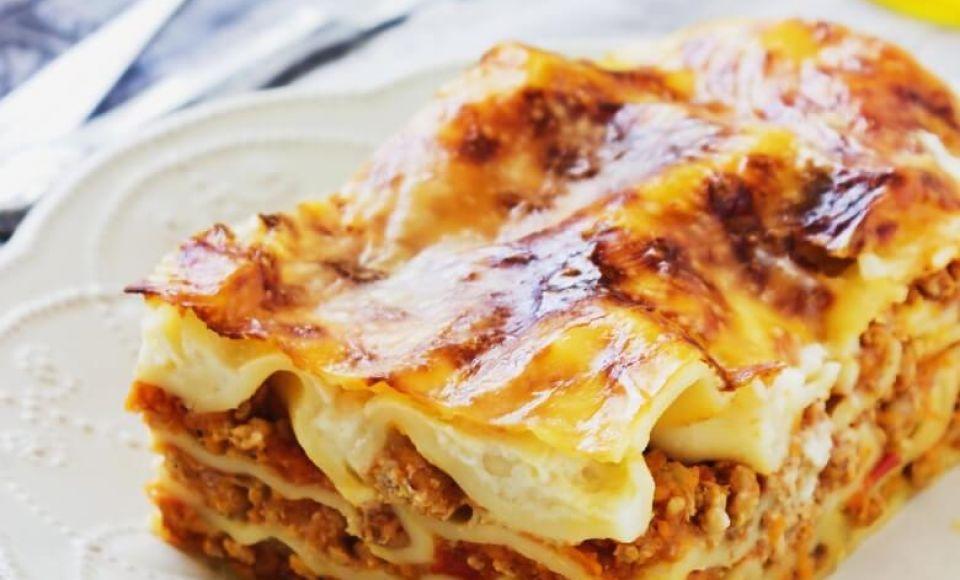 Lasagne in de oven met Bolognese saus