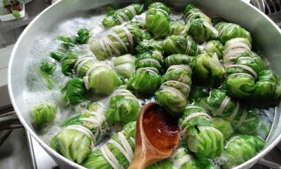 Gevulde groentepakketjes met lamsvlees