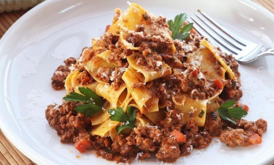 Ragù Bolognese, niet te verwarren met spaghetti bolognese