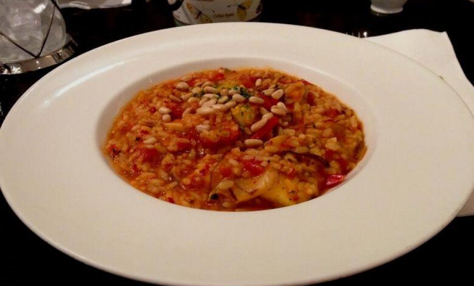 Risotto con Pomodoro e Basilico - rijst met tomaat en basilicum