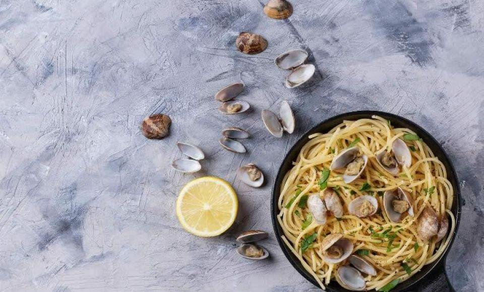 Spaghetti alle vongole - Spaghetti met venusschelpen