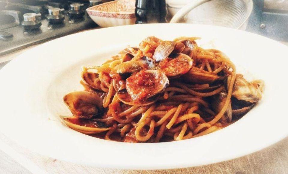 Spaghetti con le vongole - op zijn Napolitaans