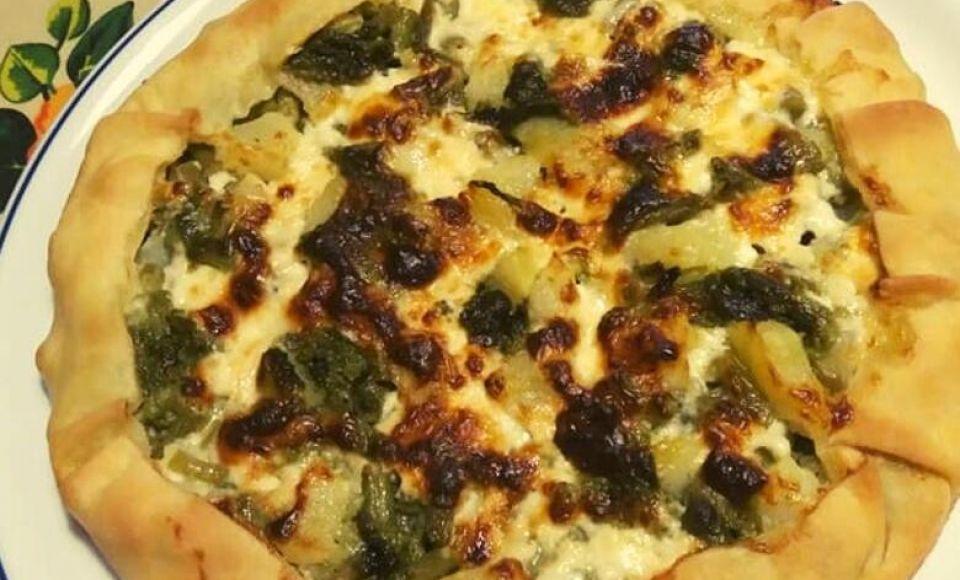 Ligurische hartige taart met sperziebonen - Torta Verde