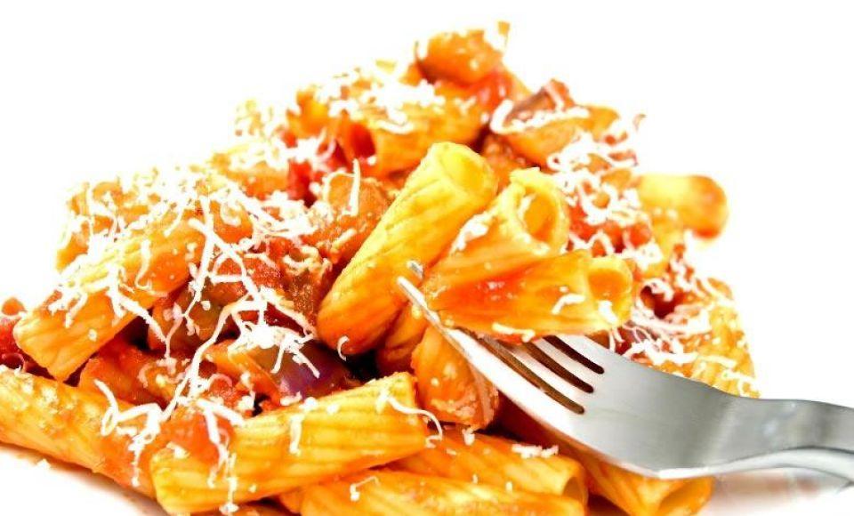 Tortiglioni met kip en paprika