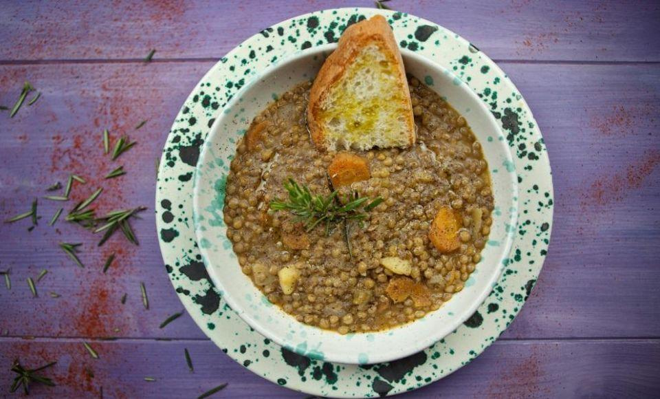Linzen Soep met Lenticchie di Castelluccio di Norcia - Zuppa di Lenticchie di Castelluccio di Norcia