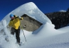 De winter komt er aan in Alpe Cimbra