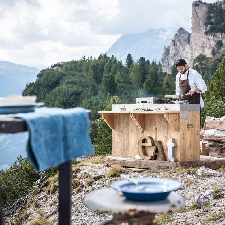 Outdoor eten in Cortina