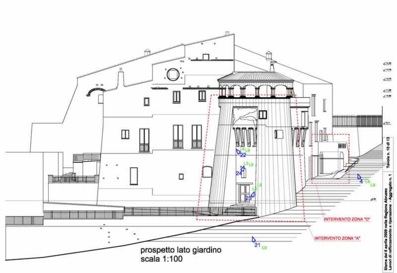 Restauratietekening van de architect