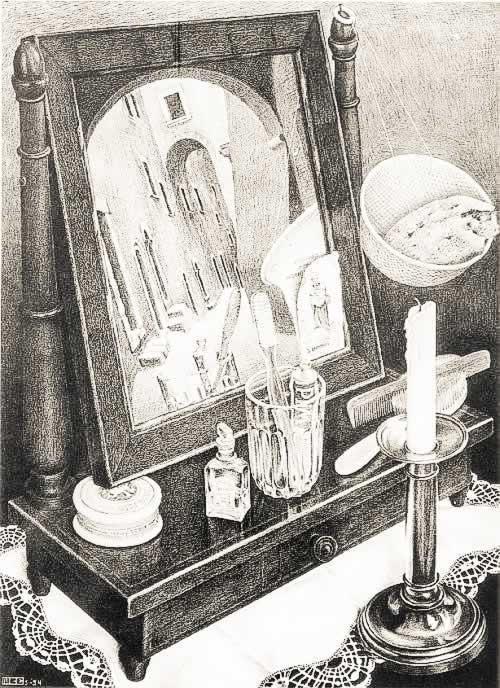 Mijn twee ramen in de spiegel