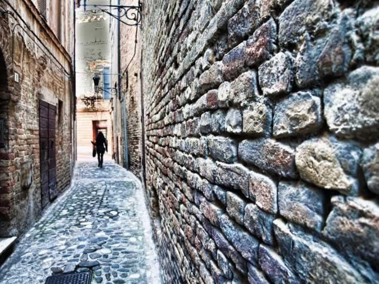 Het nauwste straatje in Ripatransone