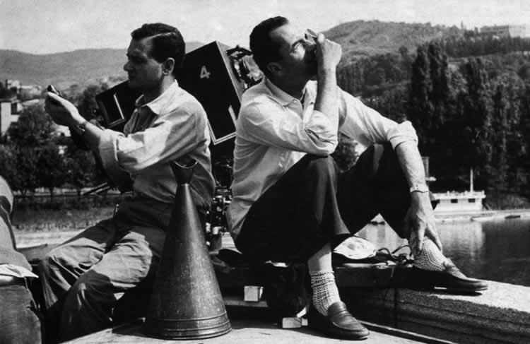 Gianni di Venanzo met regisseur Antonioni op de set