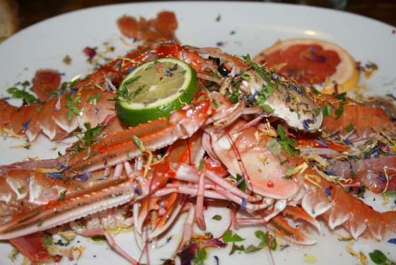 Ongelooflijk lekker eten, en natuurlijk uit zee!