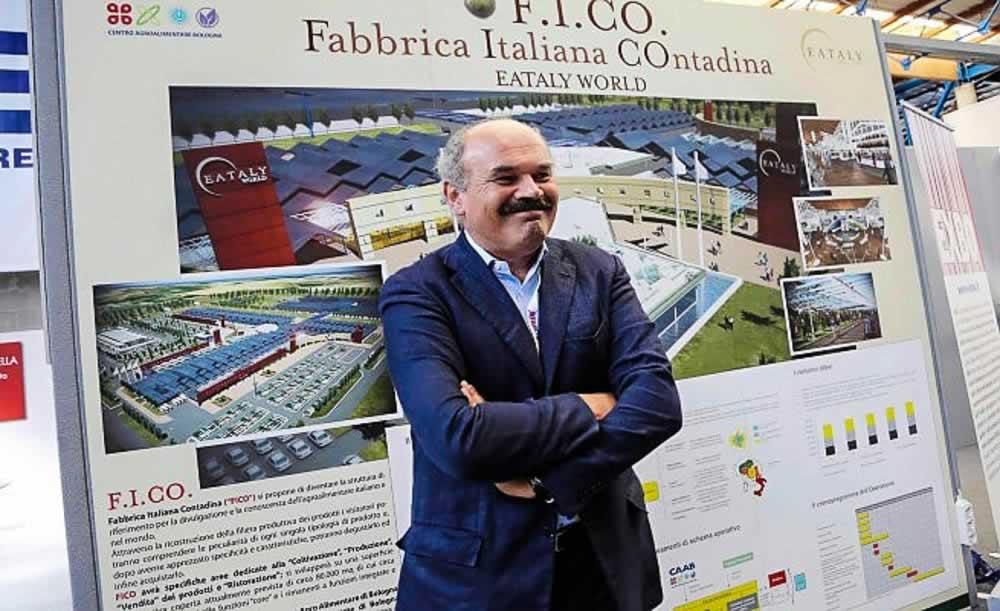 Oscar Farinetti bij de presentatie van FICO in Bologna