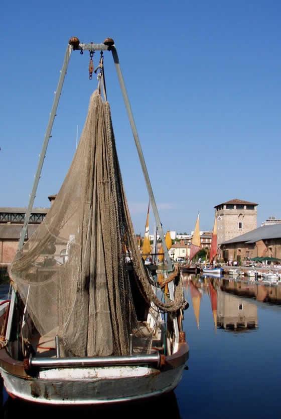 Het kanaal dat Cervia scheidt van Milano Maritimma