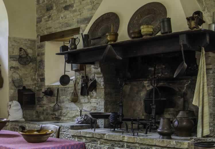 De keuken van Castello Pallotta