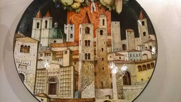 De torens van Ascoli in de middeleeuwen