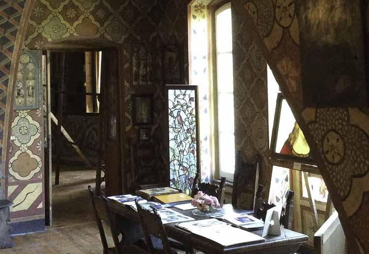 Het glas in lood atelier in Perugia