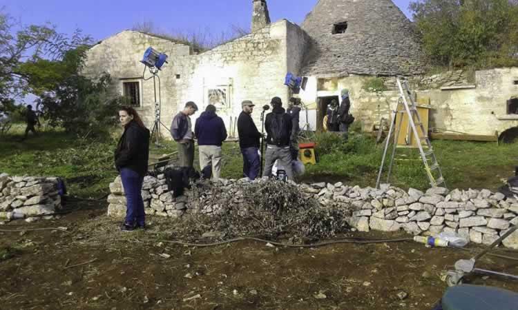 De crew van ´Tulpen´ (van Marleen Gorris) aan het filmen in Martina Franca