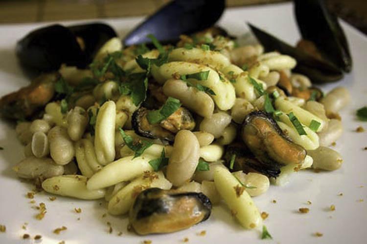 Later eten we toch nog een heerlijke pasta met mosselen
