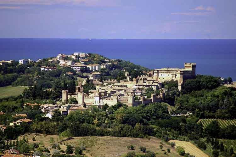 Gradara, tussen Cattolica en Pesaro in de Regio Marche