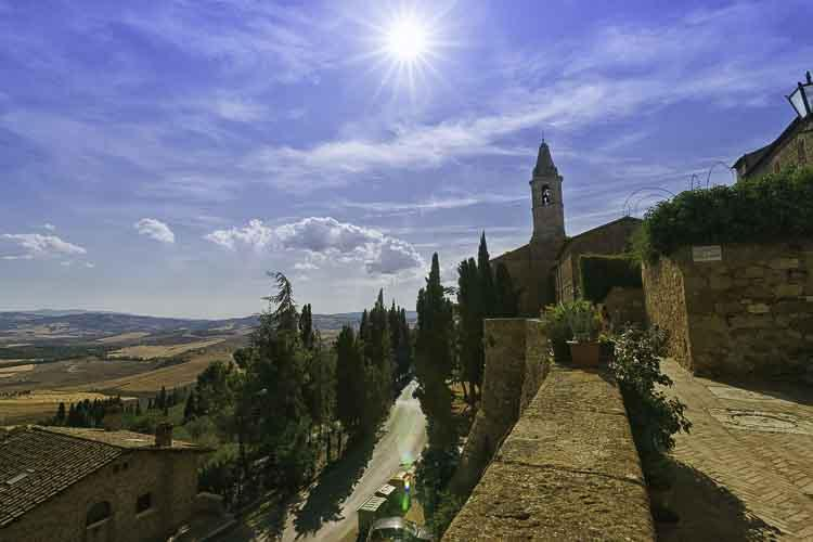 Pienza in de Orcia vallei in Toscane