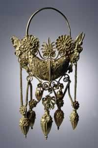 Uit het museum, goud filigrain