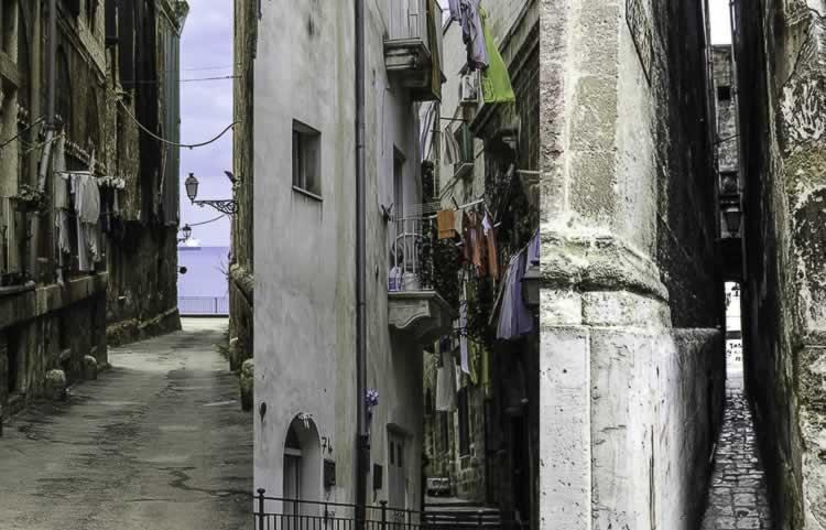 Oude straatjes in Taranto