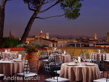 Dakterras met zwembad Hotel Kraft in Florence