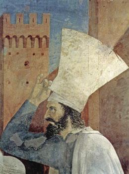Detail van fresco van Piero della Francesca