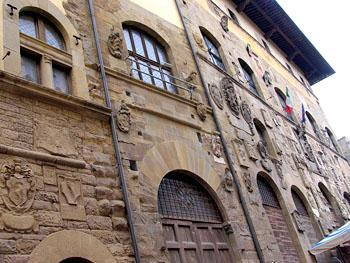 Middeleeuwse huizen in Arezzo
