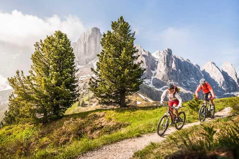 Mountainbiken in de Dolomieten