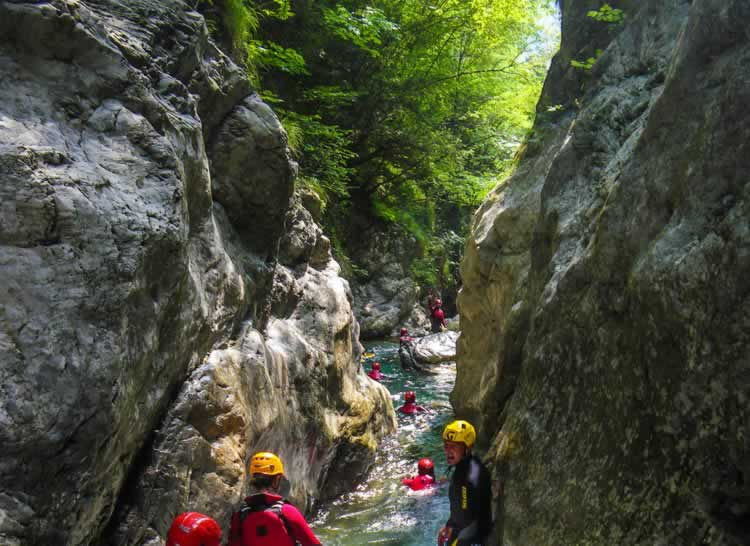 Dit is canyoning in Trentino