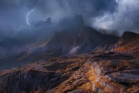 Zwaar weer in de bergen