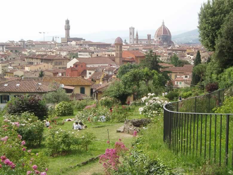 Florence in de Rozentuin