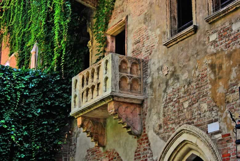 Het balkon van Giulietta in Verona