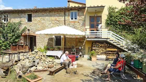 Een boerderijtje in Toscane