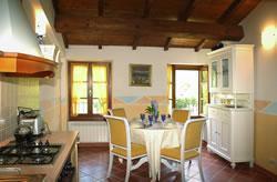 Keuken van appartement Aulella